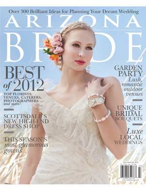 Zsuzsi & John's Flagstaff bicycle wedding Featured in Arizona Bride Magazine