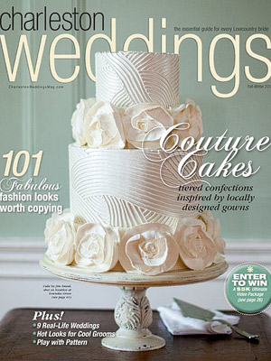 Chloe & Paul's art deco wedding Featured in Charleston Weddings Magazine