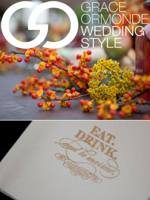 Randi & Michael's Rehearsal Dinner Party featured on Grace Ormonde's Blog