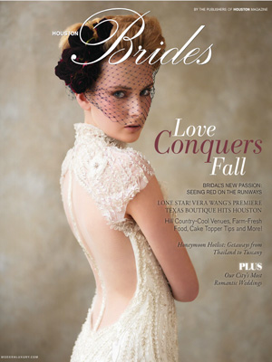 Bekah & Casey's Bayou Bend wedding featured in Houston Bride Modern Luxury Magazine