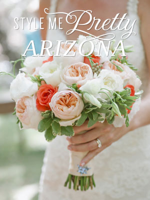 Samantha & Brennan's Wedding Featured On Style Me Pretty Arizona